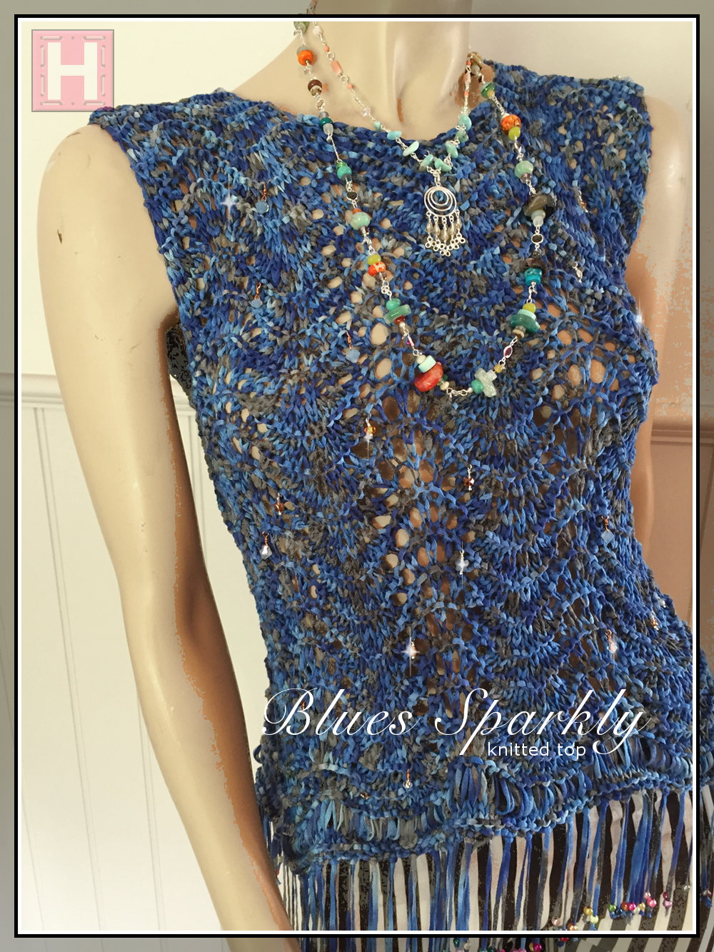 blues sparkly top CH0433-001