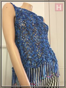 blues sparkly top CH0433-003