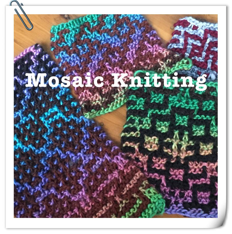 Mosaic Knitting : Mosaic knitting basics ・clearlyhelena