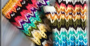 Missoni Inspired Gloves – Colourful ZigZag