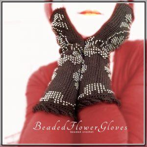 beaded flower glove CH0443-003