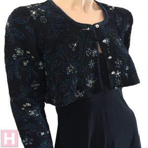 black bridal crop jacket CH0437-000