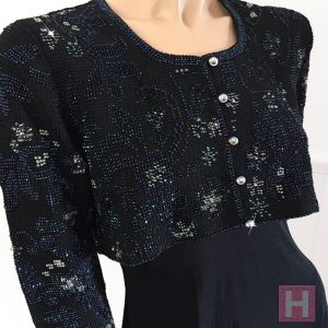 black bridal crop jacket CH0437-001