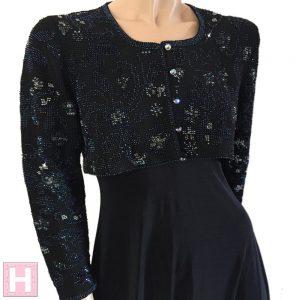 black bridal crop jacket CH0437-002