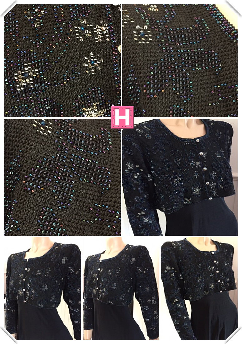 black bridal crop jacket CH0437-003