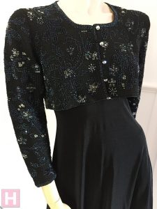 black bridal crop jacket CH0437-004