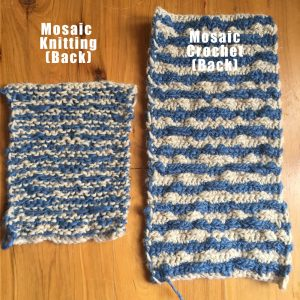 mosaic knitting crochet back