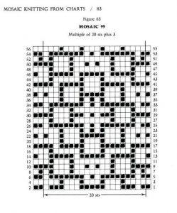 mosaic knitting crochet chart