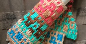 Tri-Color Gloves – Mosaic Crochet