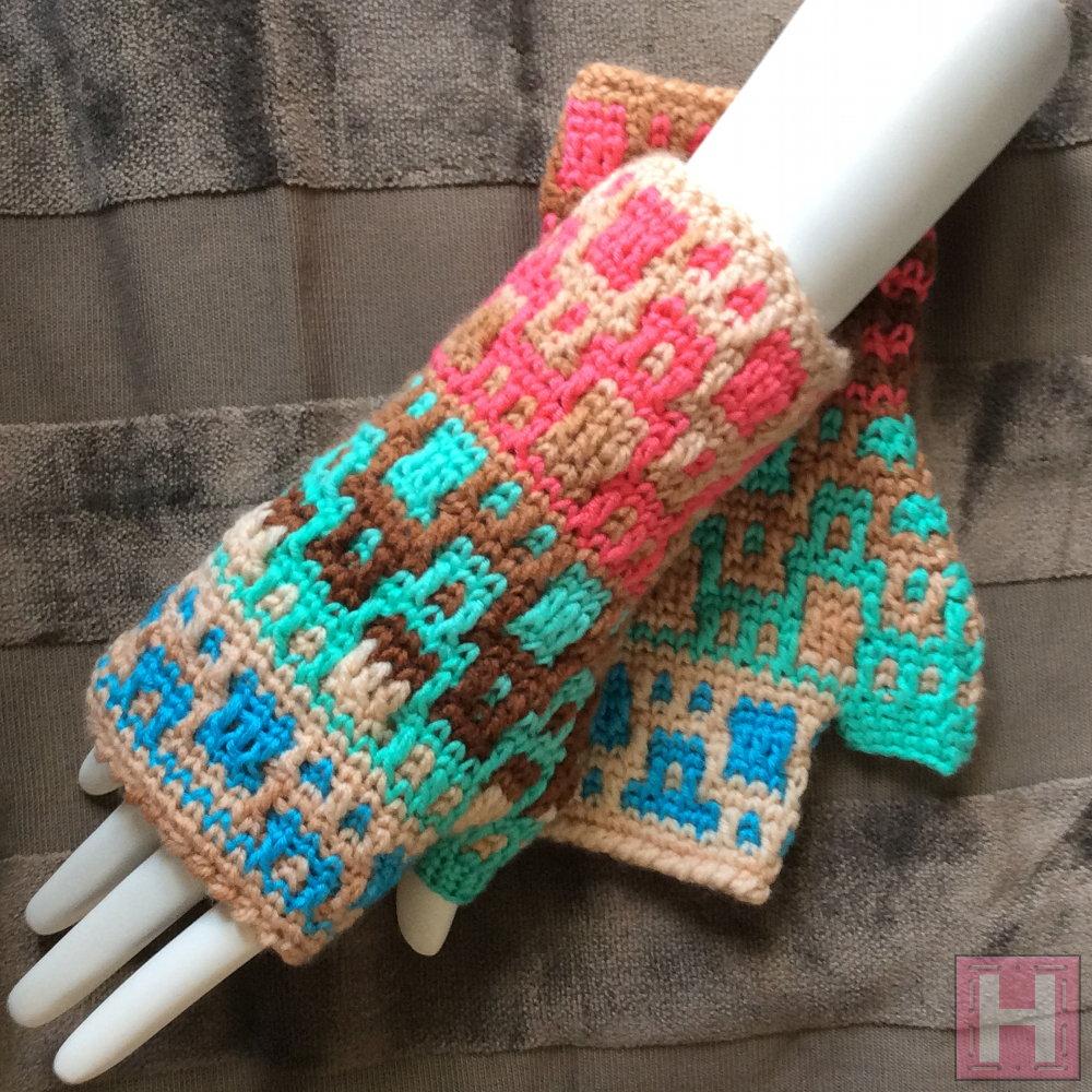 tri-color gloves CH0442-000
