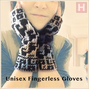 unisex fingerless gloves CH0438-001