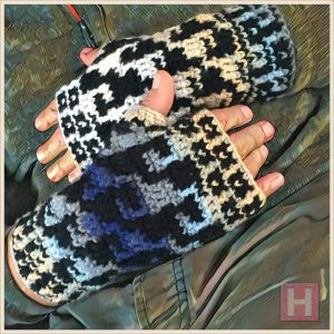 unisex fingerless gloves CH0438-003