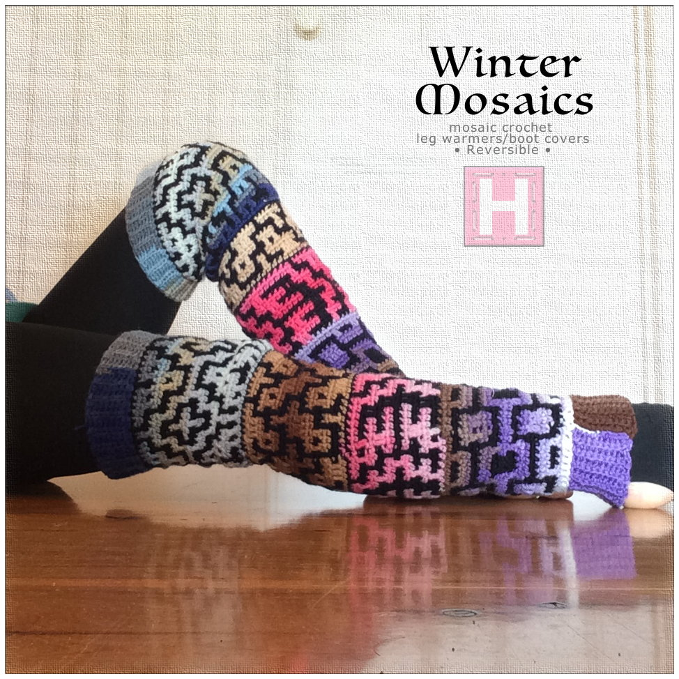 winter mosaic leg warmer CH0444-002