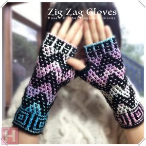 zig zag fingerless gloves CH0439-001