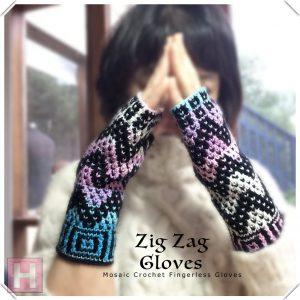 zig zag gloves CH0439-002