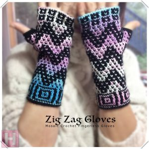 zig zag fingerless gloves CH0439-003