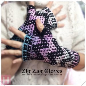 zig zag fingerless gloves CH0439-004