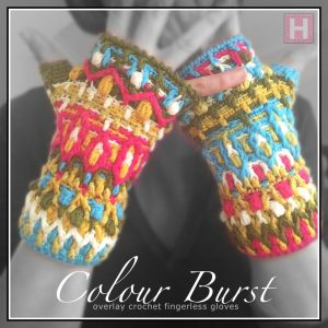 ColourBurst Fingerless Gloves CH0449-000