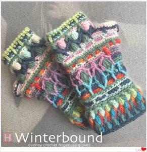 overlay crochet fingerless gloves CH0446-002