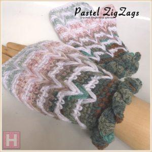 pastel zigzag crochet gloves CH0445-005