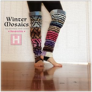 winter mosaic leg warmer CH0444-005