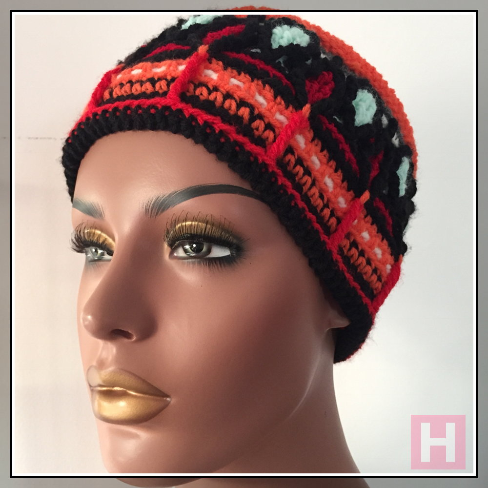 colourful crochet hat CH0452-000