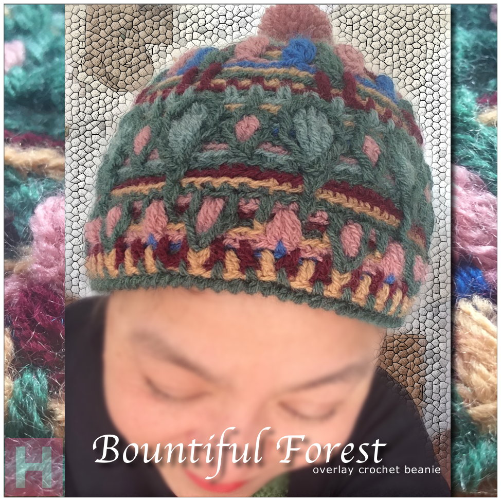 overlay crochet beanie BountifulForest CH0456-000