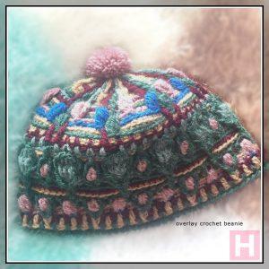 overlay crochet beanie BountifulForest CH0456-001