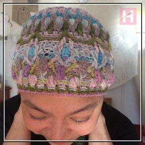 overlay crochet beanie - CH0455-001