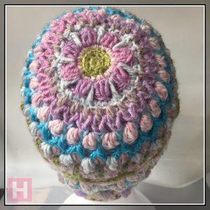 overlay crochet beanie - CH0455-002