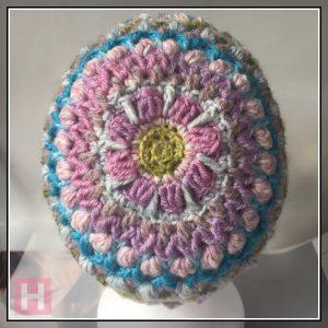 overlay crochet beanie - CH0455-003
