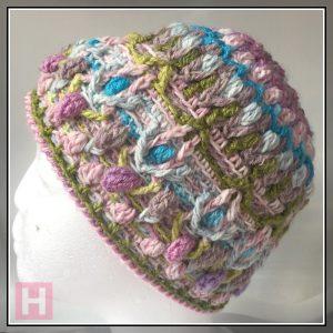 overlay crochet beanie - CH0455-004