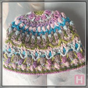overlay crochet beanie - CH0455-005