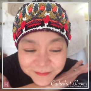 overlay crochet beanie CathedralBlooms CH0454-001