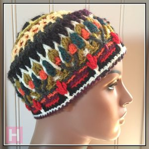 overlay crochet beanie CathedralBlooms CH0454-002
