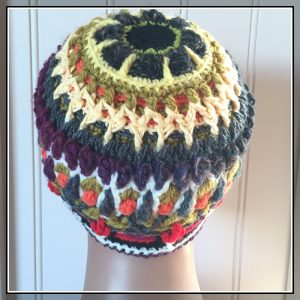 overlay crochet beanie CathedralBlooms CH0454-005