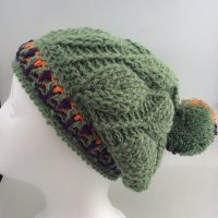 3D Leaves Crochet Beanie CH0460-001