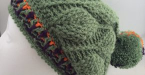3D Leaves Crochet Beanie (CH0460 – Sold)