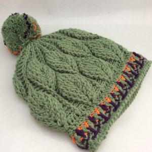 3D Leaves Crochet Beanie CH0460-002