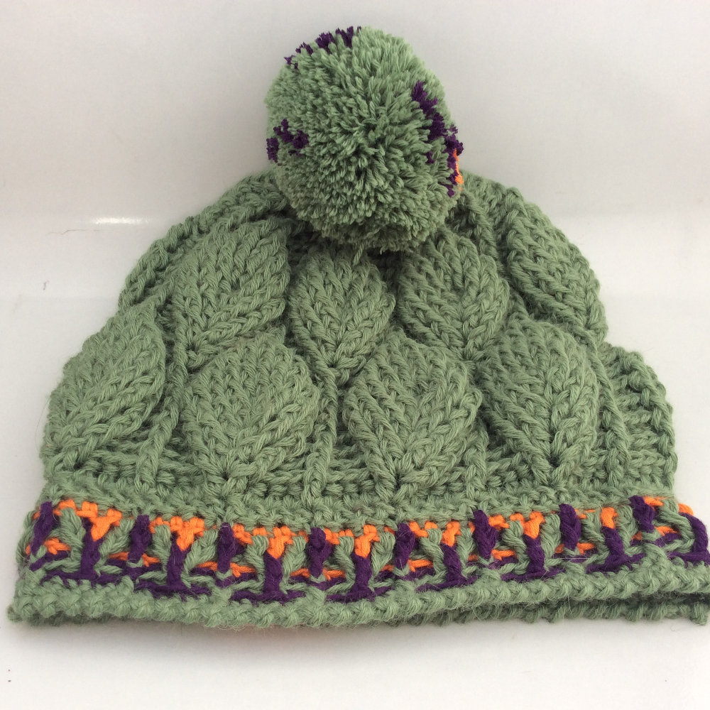 3d leaves crochet beanie ch0460 sold clearlyhelena 3d leaves crochet beanie ch0460 003 bankloansurffo Image collections