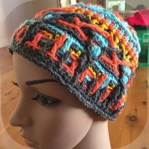 overlay crochet beanie CH0470-001