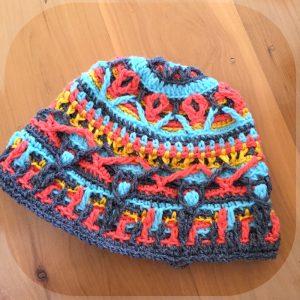overlay crochet beanie CH0470-002