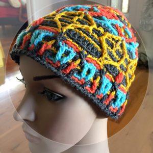 overlay crochet beanie CH0471-001