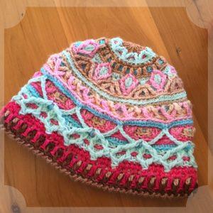 overlay crochet beanie CH0472-001