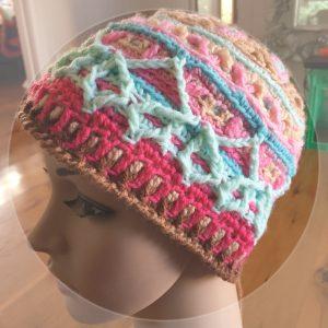 overlay crochet beanie CH0472-002
