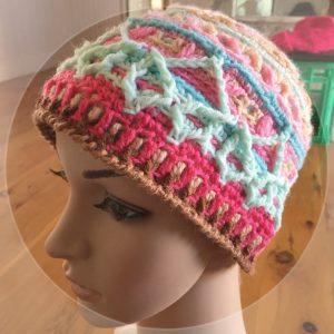 overlay crochet beanie CH0472-003