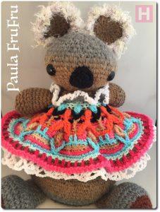 Paula FruFru crochet amigurumi doorstop CH0476