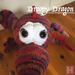 Droopy Dragon - amigurumi crochet doorstop CH0488
