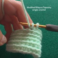 Modified Crochet Stitch, Wayuu Crochet, Tapestry Crochet - How To