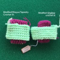 Modified Shallow Single Crochet Stitch - How To